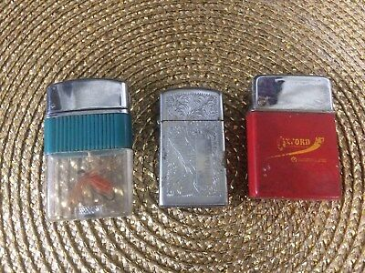Set of 3 collectible lighters. Zippo, Japan, Oxford Chemicals. Very nice!
