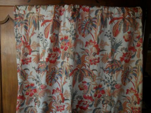 Vintage French curtain.Cotton.Tailor made.Lined.