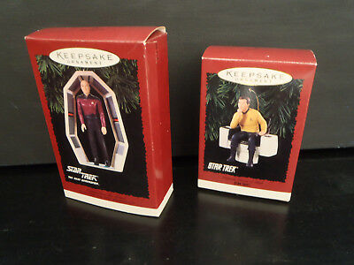 Hallmark Picard & Kirk Ornaments IN BOXES!