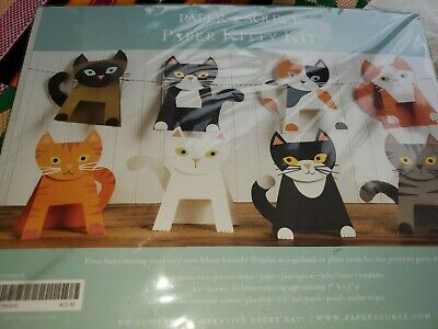 PAPER SOURCE KITTENS KITTY KIT CATS DECOR PARTY THEME GARLAND HALLOWEEN NEW