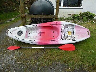 Tek 285 X-T-Sea   sit on top kayak with paddle