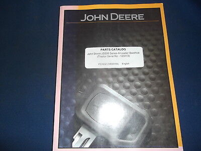 John Deere Jd500a Loader Backhoe Parts Manual Book Pc1032 Sn -123113
