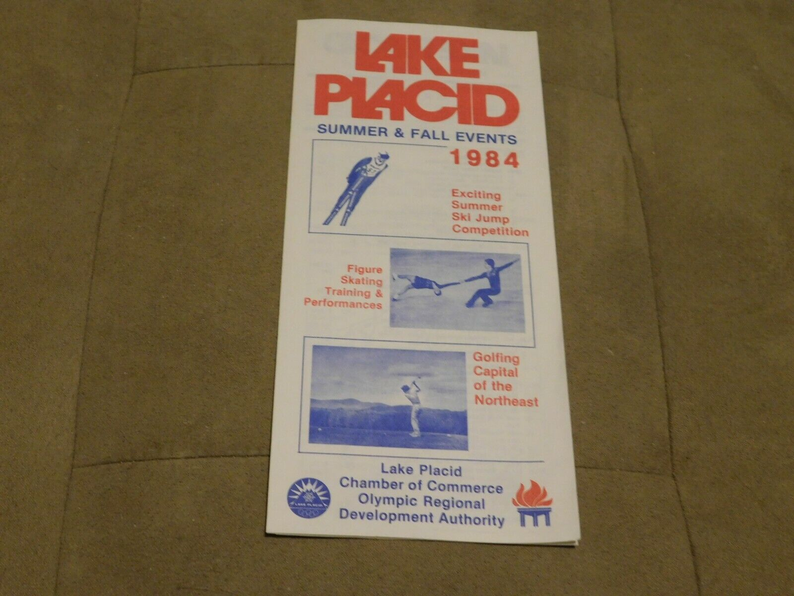 Lake Placid Summer & Fall events 1984 New York travel brochure