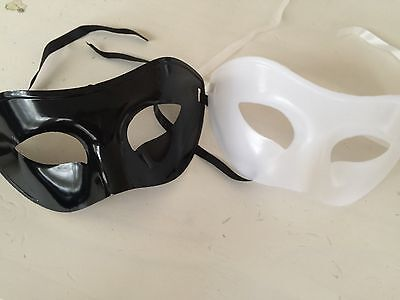 12 White Black Mens Masquerade Ball Party Eye Mask Venetian Costume Face Man - Mens Masquerade Ball Costumes