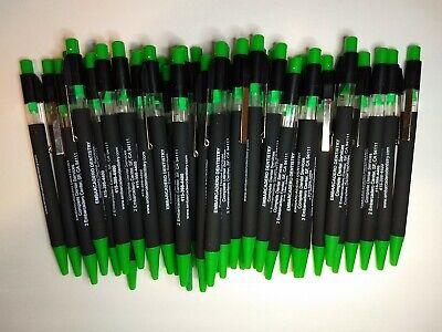 36 Piece Lot Misprint Neon Green Allure Retractable Click Pens Free Ship