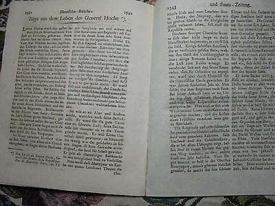 1798 97 Zeitung / Herzogtum Württemberg / zum Tode General Lazare Hoche