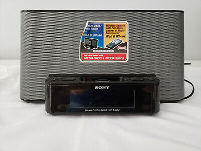 Sony Ipod Dock/AM/FM Radio/Alarm Clock ICF-CS10iP Dream Machine (No Remote)