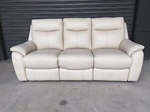 Domayne ROKKA 3 Seat leather electric recliner sofa lounge Strathfield Strathfield Area Preview