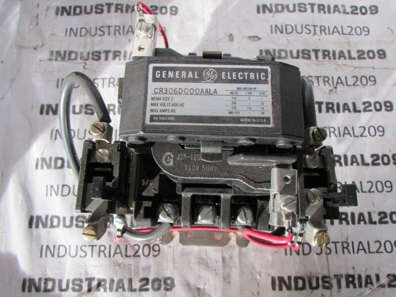 GENERAL ELECTRIC MAGNETIC CONTACTOR CR306D000AALA SIZE 2 NEW