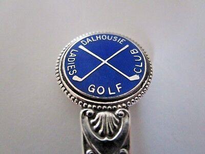 Silver & Enamel Spoon, Dalhousie Ladies Golf Club, 1938.