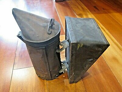 Vintage Antique Honey Bee Hive Smoker Vintage Primitive Beekeeping Tool