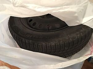 17 inch brand new michelin x ice winter tires on rims