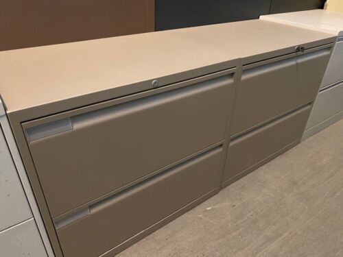 2 DRAWER LATERAL SIZE FILE CABINET by TEKNION OFFICE FURNITURE w/LOCK&KEY