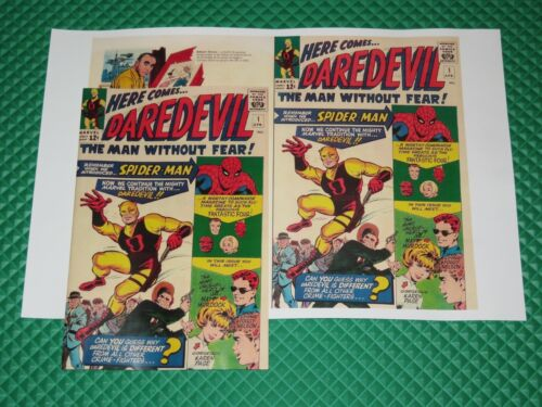 Daredevil #1 Beautiful Repro Cover Only w/Original Ads Key 1st App of Daredevil