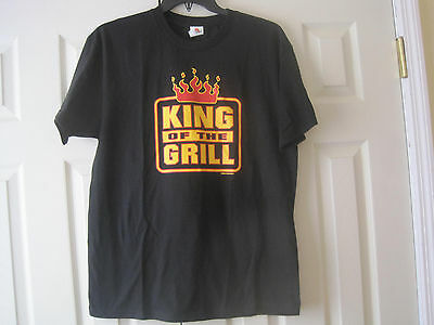 King of the Grill T-Shirt~BBQ Barbeque~Size L~LBDFV