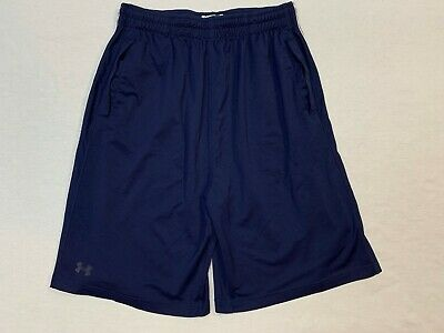 Men's UNDER ARMOUR Navy Performance Apparel athletic Shorts Pockets Sz LG