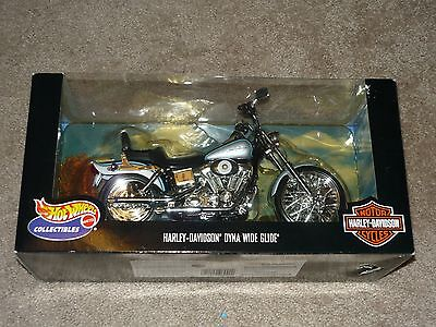 HARLEY DAVIDSON - HOT WHEELS - DYNA WIDE GLIDE MOTORCYCLE - 1:10-SCALE NEW