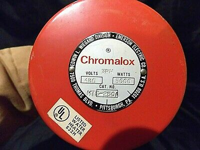 1 New Chromalox Wiegand Immersion Water Heater Mts-250a 480v 5kw 1ph 19 Inches