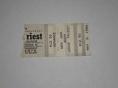 Judas Priest Concert Ticket Stub-1984-Defenders of Faith Tour-Phoenix,AZ