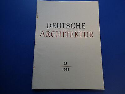 DDR Zeitschrift- Deutsche Architektur 11/1955-München-Neubrandenburg-Leipzig-