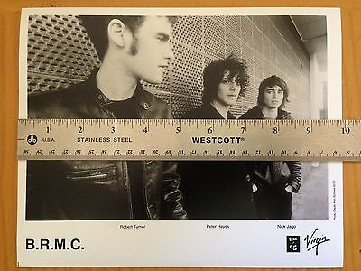 Original Black Rebel Motorcycle Club BRMC 8x10 Promo Publicity Photo 2001 Virgin