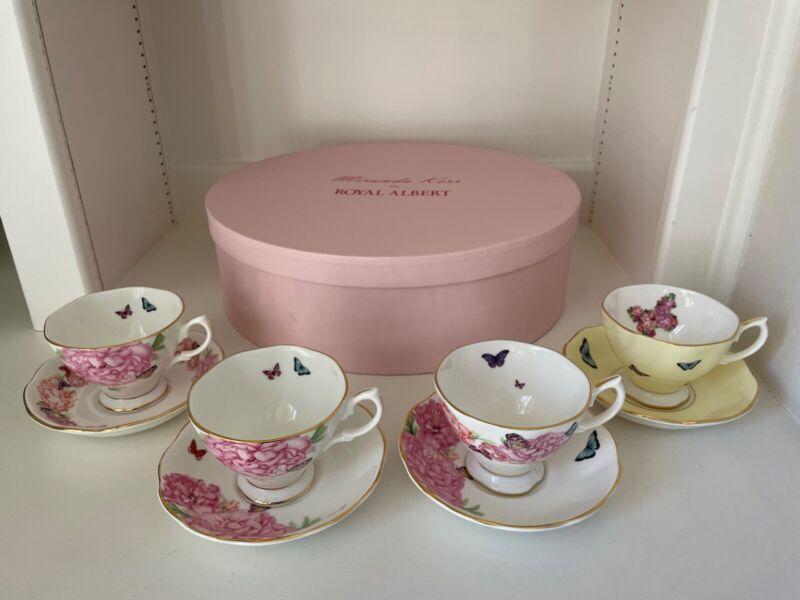 Miranda Kerr for Royal Albert mixed pattern 4 Tea cup and saucer set