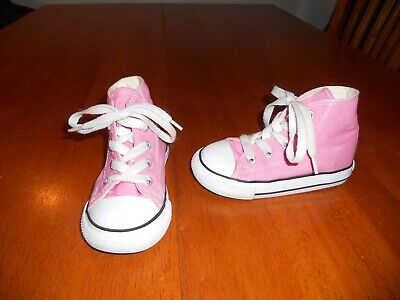Converse girls shoes size 7 pink All Star CUTE!! high tops](All Girls Shoes)