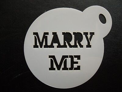 Marry Me Cookies (Laser cut small marry me design cake, cookie,craft & face painting)