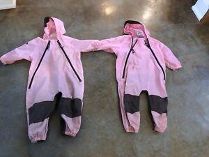 Tuffo Rain Suit, pink, 2T (x2)
