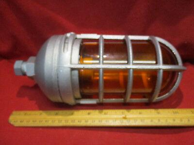 Stonco Vp11gc 100 Watt Pendant Mount Roughlyte Vaportight With Amber Glass Globe