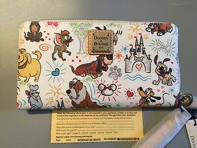 NWT Dooney & Bourke DISNEY DOGS SKETCH WALLET Parks Exclusive ACTUAL WALLET Toby