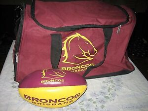 BRISBANE BRONCOS SPORTS BAG & MINI FOOTBALL COMBO Ingle Farm Salisbury Area Preview