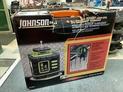 850 Johnson Self-leveling Rotary Laser W Greenbrite Technology 40-6543 New