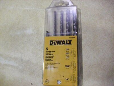 5 Piece Dewalt Sds Plus Carbide Tipped Drill Bit Set Dwaf5470