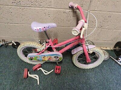 Girls bike with stabilisers kids children's disney