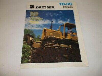 Dresser Standard Long Track Td-8g Bull Dozer Sales Brochure