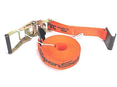 - NEW! SPANSET RATCHET TIE-DOWN STRAP, FLAT HOOKS, 27' x 2