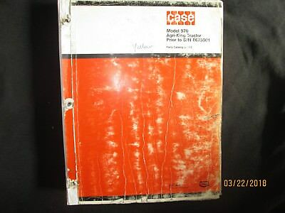 Case Ih 970 Agri-king Tractor Parts Catalogue Manual Book Factory Original 1979