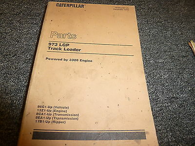 Caterpillar Cat 973 Lgp Track Loader W 3306 Engine Parts Catalog Manual Book