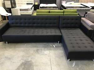 Brand New 5seater Black PU Leather Sofa Bed Couch Loung (SP034) Clayton South Kingston Area Preview