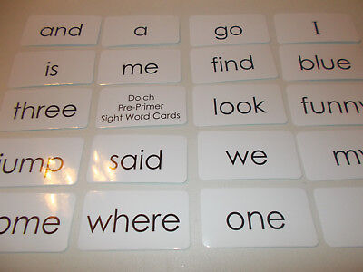 Dolch Pre-Primer sight word flash cards. Preschool and PreK educational - Sight Word Flash Cards