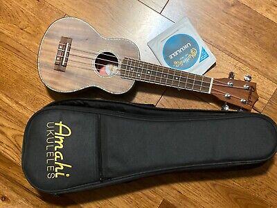 Amahi ukulele UK 660 S Koa with Padded Case Ex Cond