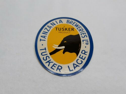 Tusker Lager Beer Labels Tanzania Breweries LTD. A Tusker Product  - $4.99