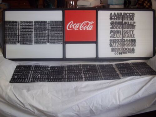 New 6ft Coca-Cola Menu Board w7 sets/3 Diff sizes of letters,numbers & symbols!