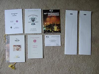 menu fifa 46th ordinary congress 2/7/88 + separate card