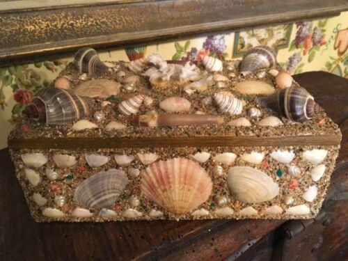 Sea Shell Art Shellwork Box Maritime Sailor Souvenir Handmade