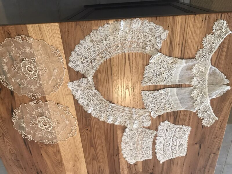 antique lace collar and cuffs.