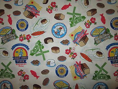 DUTCH WINDMILL BREAD LABELS CAKE COOKIES BRANDS BAKING BAKE COTTON FABRIC (Dutch Cakes)