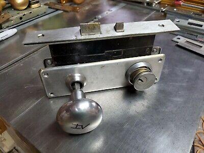 Vintage Sargent Mortise Lock Set Satin Stainless
