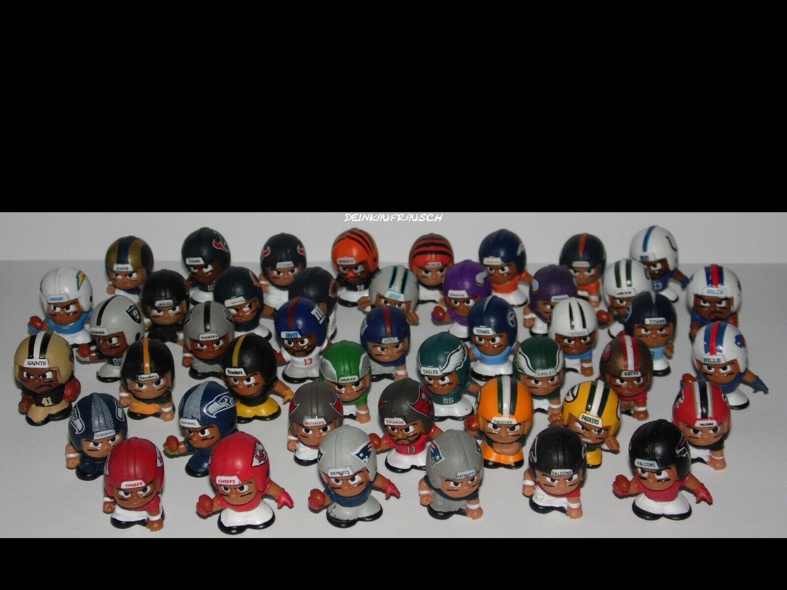 NFL Mini Figuren - Football - Teams-Auswahl -Packers,Seahawks,Patriots,Chiefs..